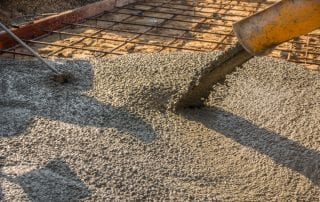 Pouring ready-mixed concrete